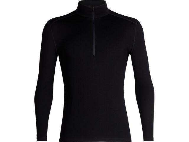 Icebreaker 260 Tech LS Half Zip Shirt Herre black